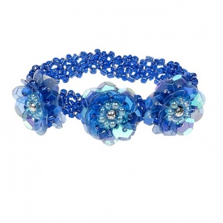 Armband pailletten Jessy - blauw (Souza for Kids)