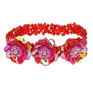Armband pailletten Jessy - rood (Souza for Kids)