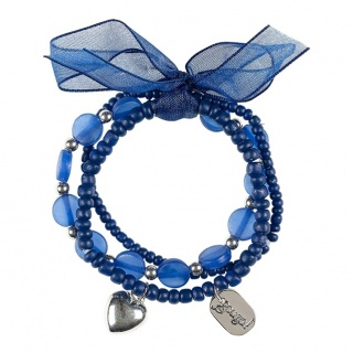 Blauwe kinder armbandjes Miley (3st) (Souza for Kids)