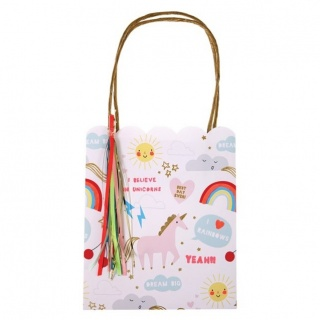Cadeautasjes-partybags Unicorns & Rainbows (8 stuks) (Meri Meri)