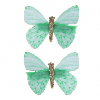 Haarclips Butterfly Wishes groen (Great Pretenders)
