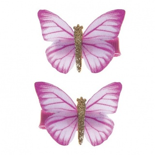 Haarclips Butterfly Wishes roze (Great Pretenders)