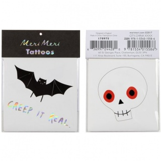 Halloween tattoos (2 st) (Meri Meri)