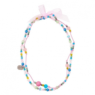 Pastelkleurige kralenketting (2 in 1) - Milou (Souza for Kids)