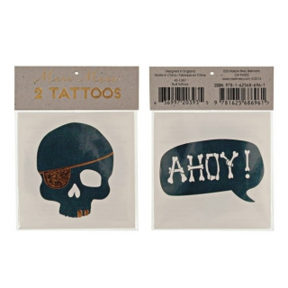 Piraten tattoos Skull & Ahoy (2st) (Meri Meri)
