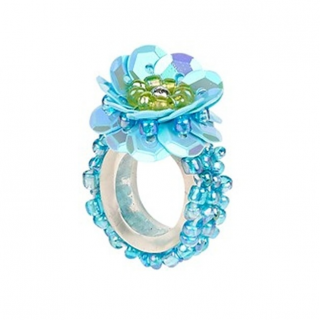 Ring pailletten Jessy aqua (Souza for Kids)