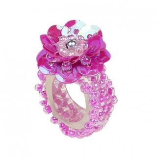 Ring pailletten Jessy fuchsia (Souza for Kids)