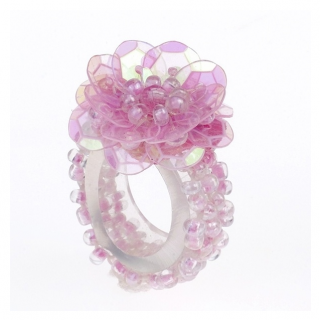 Ring pailletten Mira roze (Souza for Kids)