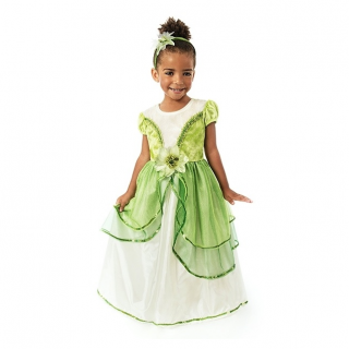 Tiana prinsessenjurk Deluxe (Little Adventures)