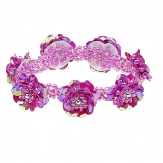 Armband pailletten Jessy - fuchsia (Souza for Kids)