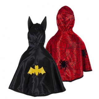 Omkeerbare batman-/Spiderman cape voor peuters (Great Pretenders)