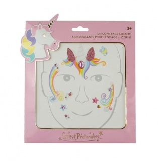 Gezichtstickers Unicorn Fairy (Great Pretenders)