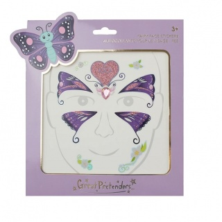 Gezichtstickers Butterfly Fairy (Great Pretenders)