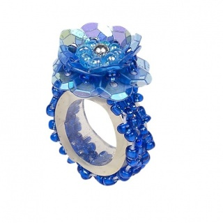 Ring pailletten Jessy donkerblauw (Souza for Kids)