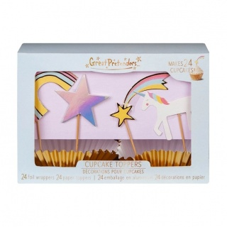 Unicorn cupcake set (24st) (Great Pretenders)