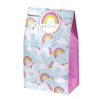 Unicorn cadeautasjes partybags (8 stuks) (Great Pretenders)