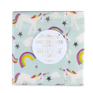 Unicorn servetten (20st) (Great Pretenders)