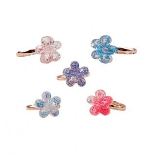 Boutique ringen Shimmer Flower (5 stuks) (Great Pretenders)